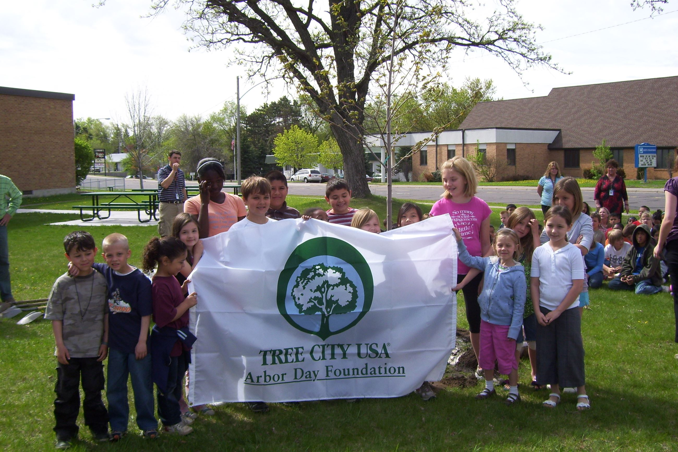 Arbor Day Tree Planting - Lincoln Elementary School